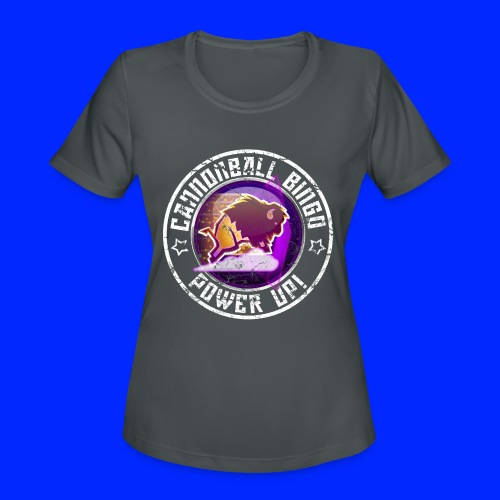 Vintage Stampede Power-Up Tee - Women's Moisture Wicking Performance T-Shirt