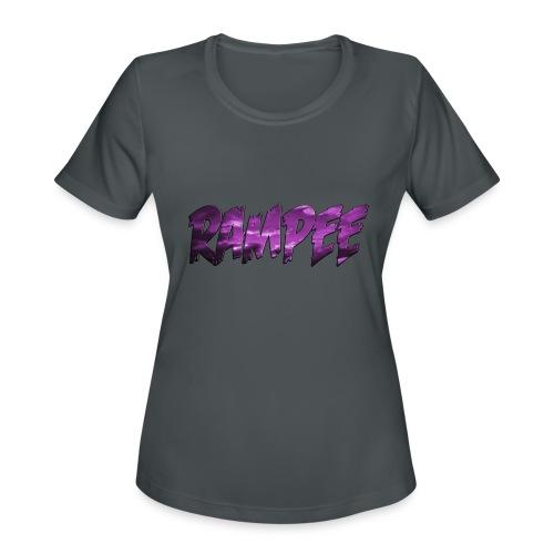 Purple Cloud Rampee - Women's Moisture Wicking Performance T-Shirt