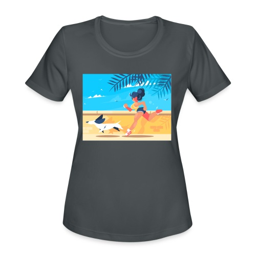 run for fun - Women's Moisture Wicking Performance T-Shirt