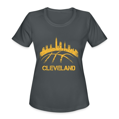 Cleveland Basketball Skyline - Women's Moisture Wicking Performance T-Shirt