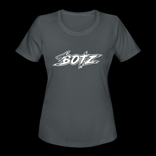 BOTZ White Logo - Women's Moisture Wicking Performance T-Shirt