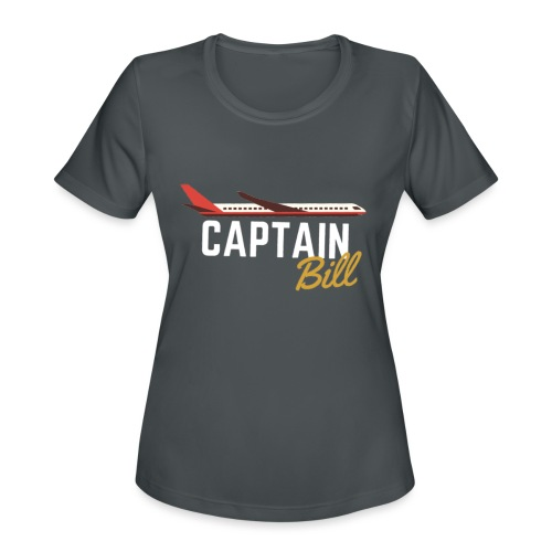 Captain Bill Avaition products - Women's Moisture Wicking Performance T-Shirt