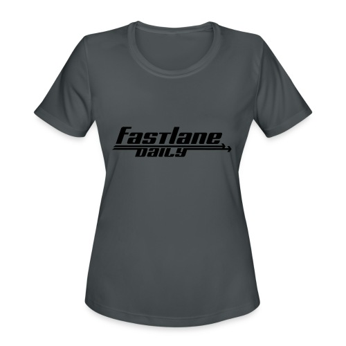 Fast Lane Daily logo - Women's Moisture Wicking Performance T-Shirt