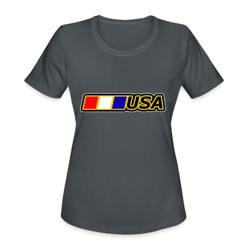 USA - Women's Moisture Wicking Performance T-Shirt