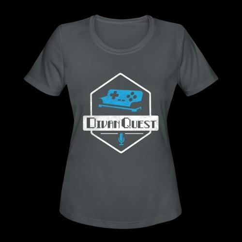 DivanQuest Logo (Badge) - Women's Moisture Wicking Performance T-Shirt