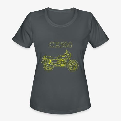 CX500 line drawing - Women's Moisture Wicking Performance T-Shirt