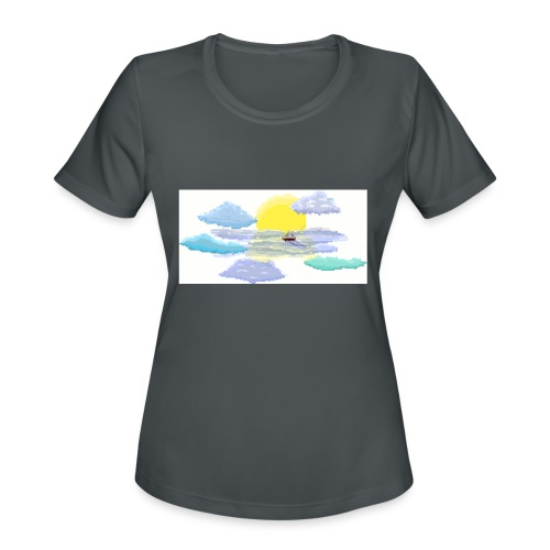 Sea of Clouds - Women's Moisture Wicking Performance T-Shirt
