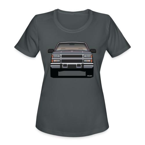 Design Icon: American Bowtie Silver Urban Truck - Women's Moisture Wicking Performance T-Shirt