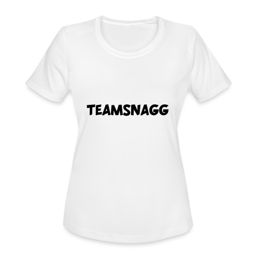 TeamSnagg Logo - Women's Moisture Wicking Performance T-Shirt