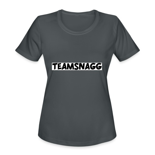 TeamSnagg Logo - Women's Moisture Wicking Performance T-Shirt