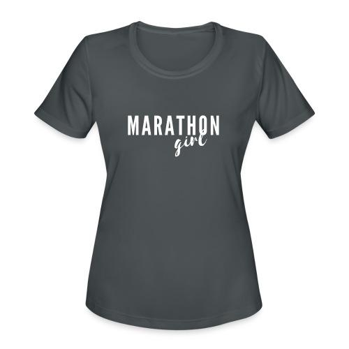 Marathon Girl - Women's Moisture Wicking Performance T-Shirt