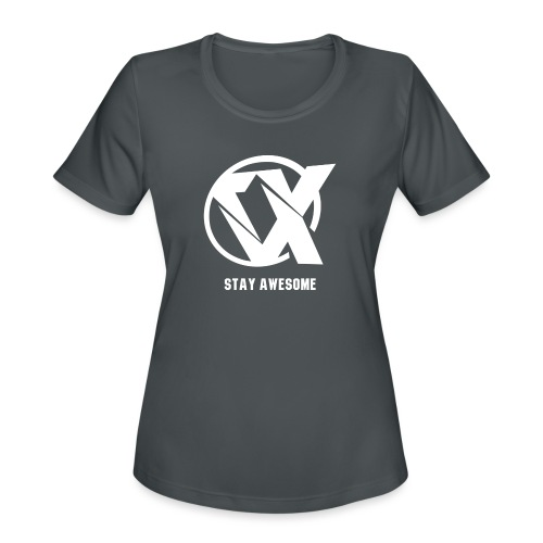 Vlex Stay Awesome Shirt (Officiel) - Women's Moisture Wicking Performance T-Shirt