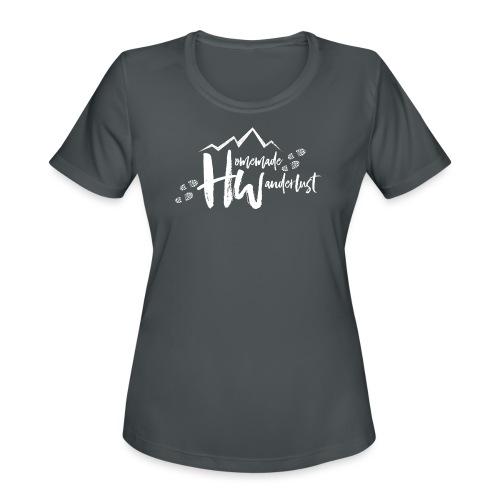 White HW Logo - Women's Moisture Wicking Performance T-Shirt