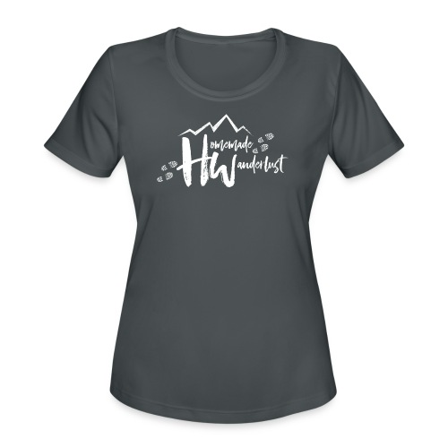 White HW Logo - Women's Moisture Wicking Performance T-Shirt