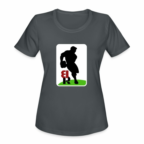 Breaking Rugby Flip - Women's Moisture Wicking Performance T-Shirt