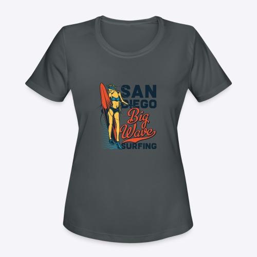 05 surf 6 - Women's Moisture Wicking Performance T-Shirt