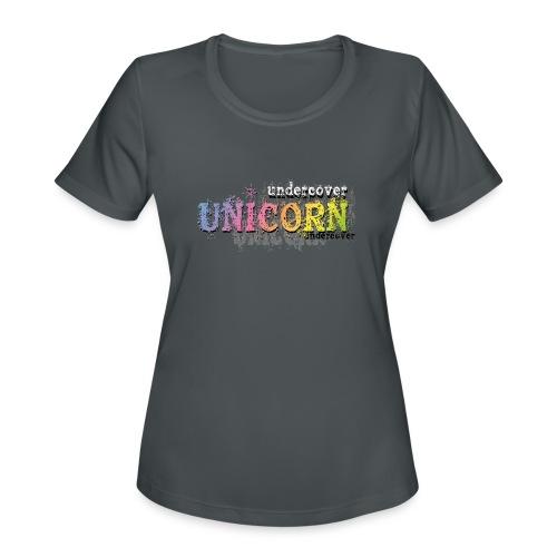 Undercover Unicorn - Women's Moisture Wicking Performance T-Shirt