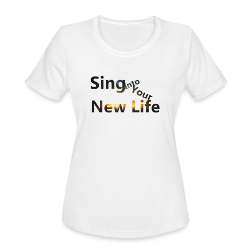 Sing in Brown - Women's Moisture Wicking Performance T-Shirt