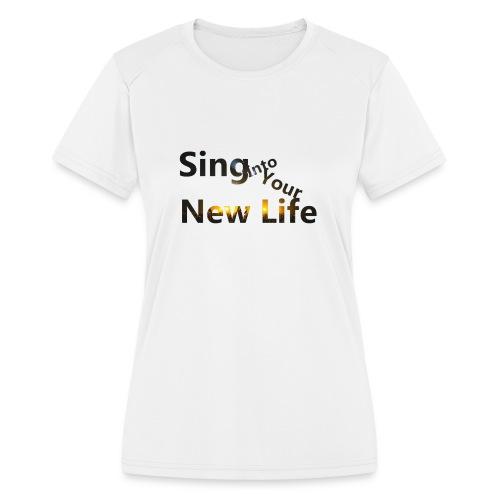Sing in Brown - Women's Moisture Wicking Performance T-Shirt
