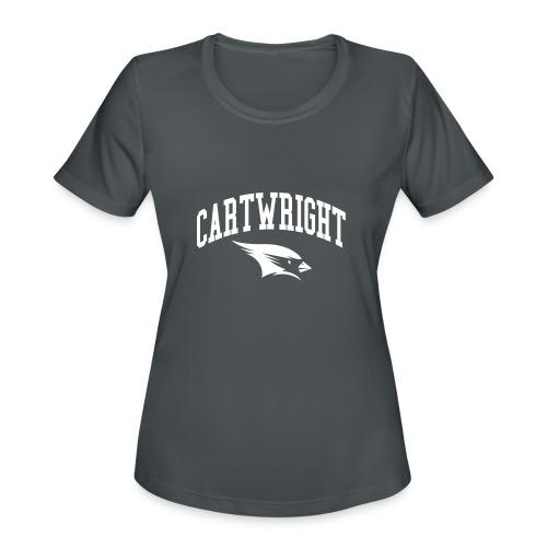 Cartwright College Logo - Women's Moisture Wicking Performance T-Shirt