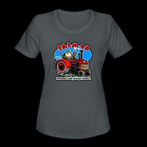 Mr Natural Farm On - Women's Moisture Wicking Performance T-Shirt