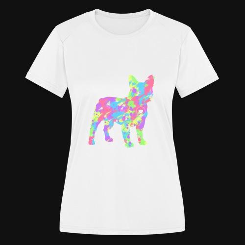 Frenchie love splatter - Women's Moisture Wicking Performance T-Shirt
