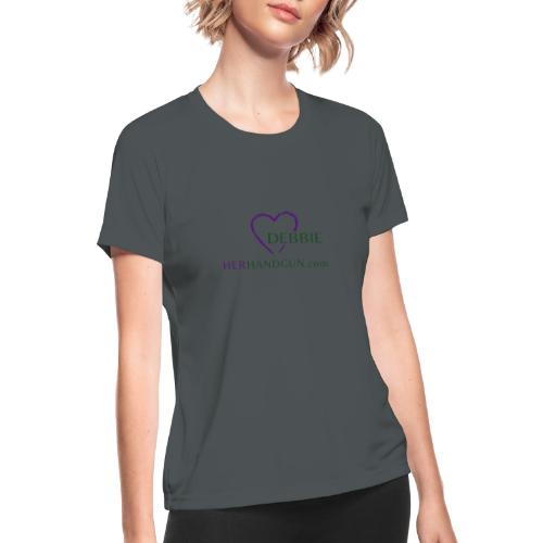 HerHandgun DEBBIE - Women's Moisture Wicking Performance T-Shirt