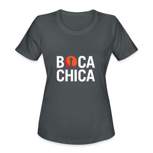 Boca Chica Starship Mars Silhouette - Women's Moisture Wicking Performance T-Shirt