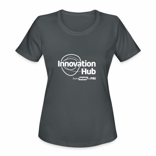 Innovation Hub white logo - Women's Moisture Wicking Performance T-Shirt