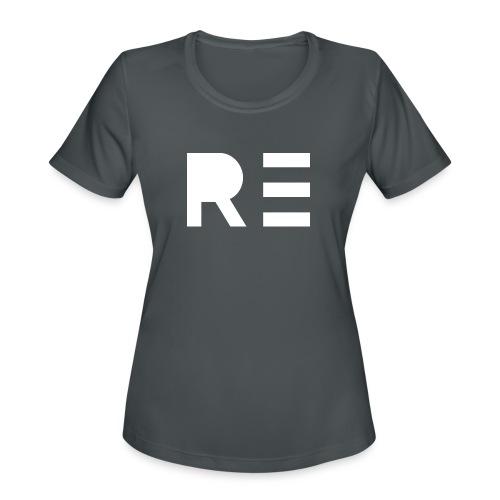 RE Logo - Women's Moisture Wicking Performance T-Shirt