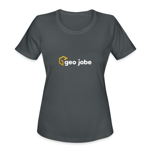 GEO Jobe Corp Logo White Text - Women's Moisture Wicking Performance T-Shirt