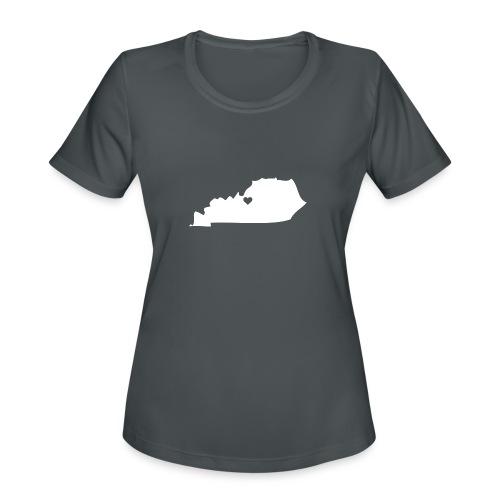 Kentucky Silhouette Heart - Women's Moisture Wicking Performance T-Shirt