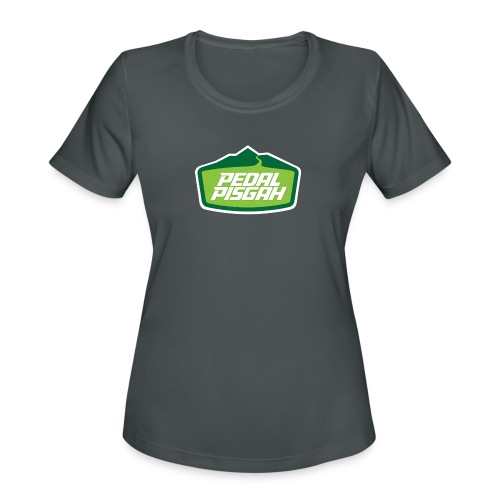 Mountain Trail Emblem Color - Women's Moisture Wicking Performance T-Shirt