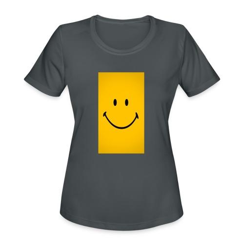 Smiley face - Women's Moisture Wicking Performance T-Shirt