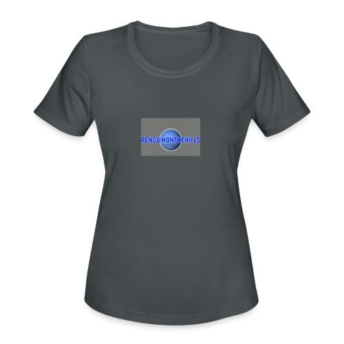 PENGUINONTHEHILLS LOGO - Women's Moisture Wicking Performance T-Shirt