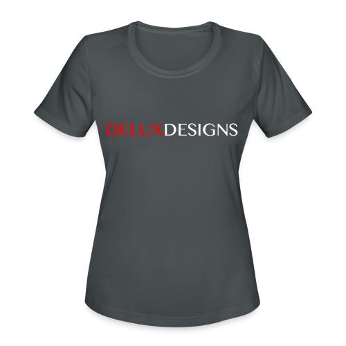 Delux Designs (white) - Women's Moisture Wicking Performance T-Shirt