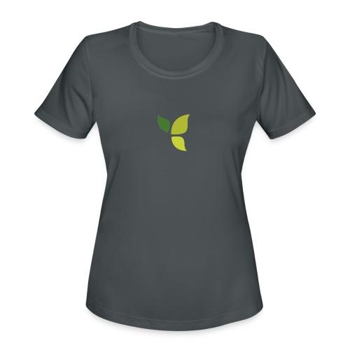 Dom Gooden Leaf Logo - Women's Moisture Wicking Performance T-Shirt