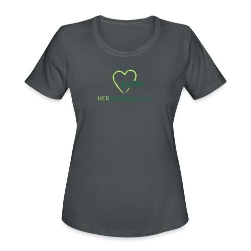 HerHandgun Logo for Kippi ONLY! - Women's Moisture Wicking Performance T-Shirt