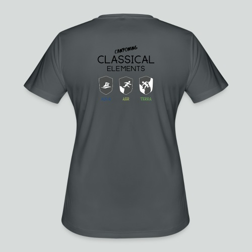 CLASSICAL ELEMENTS-on light back-2 side- all badge - Women's Moisture Wicking Performance T-Shirt