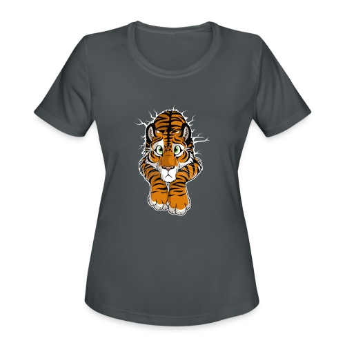 STUCK Tiger Orange (double-sided) - Women's Moisture Wicking Performance T-Shirt