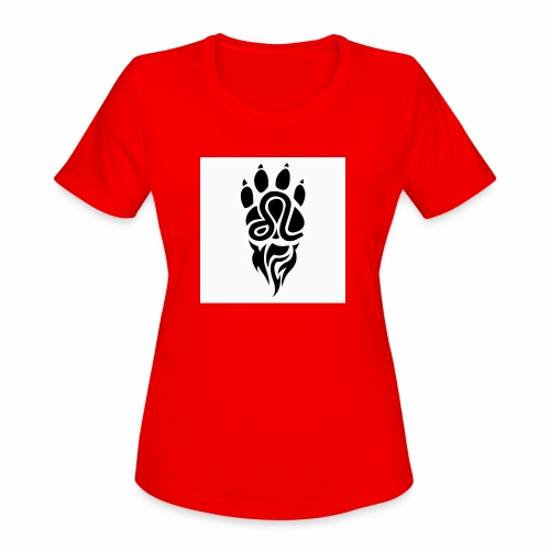 Black Leo Zodiac Sign - Women's Moisture Wicking Performance T-Shirt