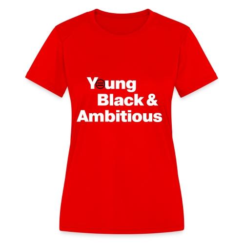 YBA Red and Blue Shirts2 - Women's Moisture Wicking Performance T-Shirt