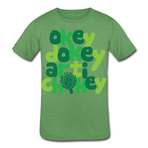 Okey Dokey Artichokey - Kids' Tri-Blend T-Shirt