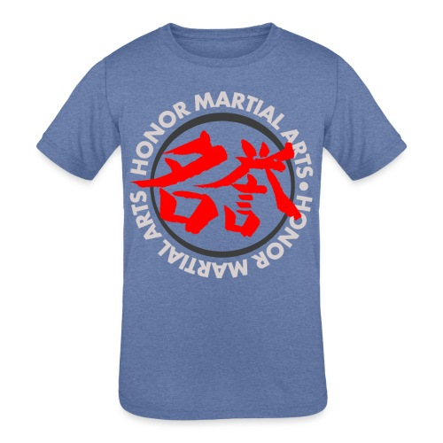 Honor Martial Arts Kanji Design Light Shirts - Kids' Tri-Blend T-Shirt