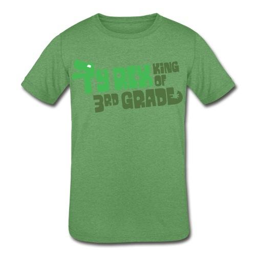 Ty Rex King of 3rd Grade - Kids' Tri-Blend T-Shirt