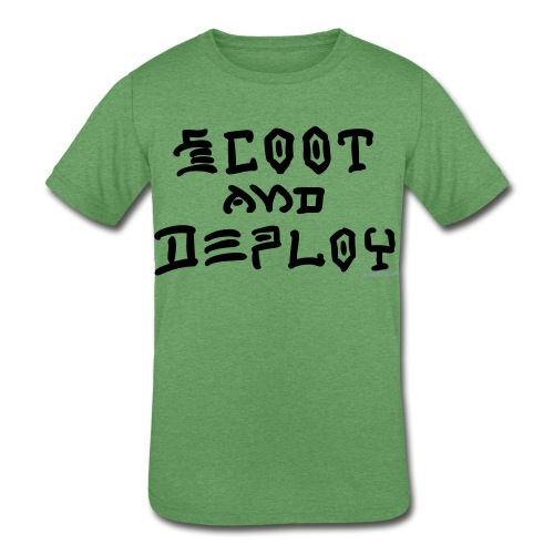 Scoot and Deploy - Kids' Tri-Blend T-Shirt