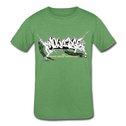 KNOWLEDGE - the urban skillz dictionary - promo sh - Kids' Tri-Blend T-Shirt