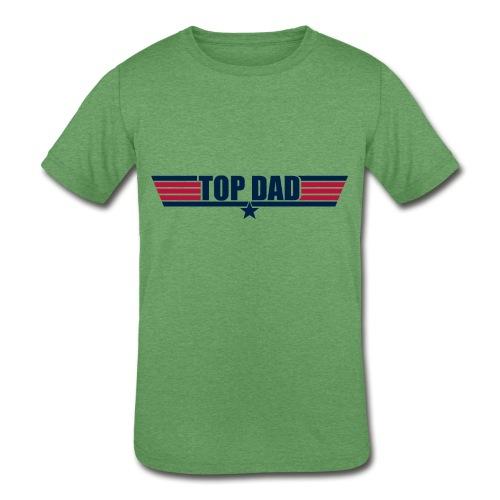 Top Dad - Kids' Tri-Blend T-Shirt