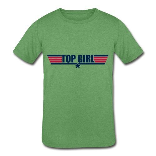 Top Girl - Kids' Tri-Blend T-Shirt