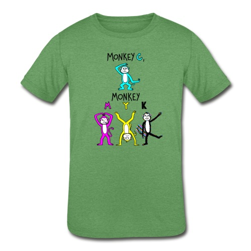 monkey see myk - Kids' Tri-Blend T-Shirt